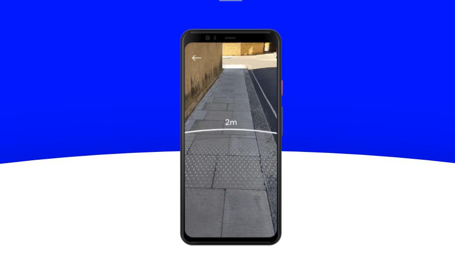 Demonstração do aplicativo Sodar de realidade aumentada num smartphone