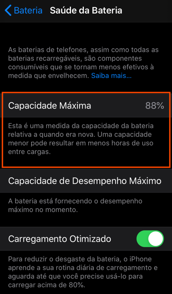 Verifique a saúde da bateria do iphone, conferindo os ciclos de carga. Com os ciclos de bateria do iphone é possível verificar a real saúde da bateria, podendo até haver uma troca em garantia