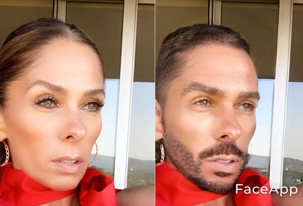 Adriane Galisteu no FaceApp