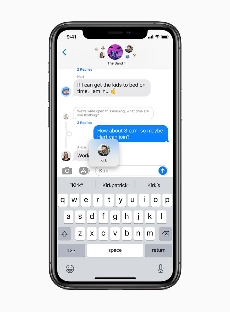App de mensagens no iOS 14