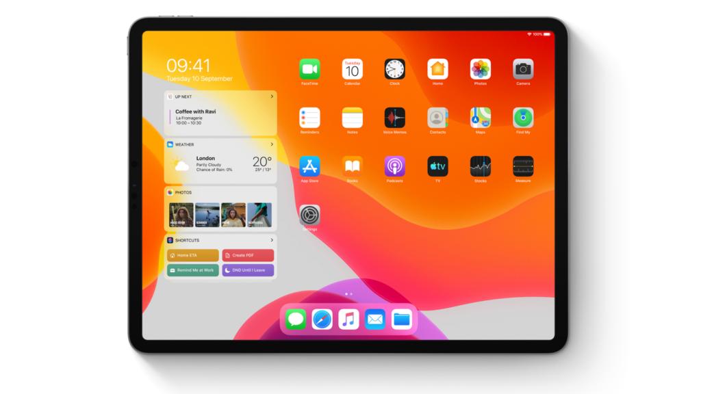 iPad com iPadOS 14