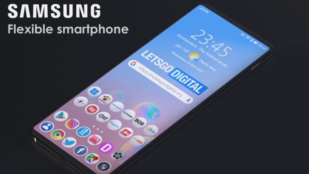 celular dobrável patente samsung
