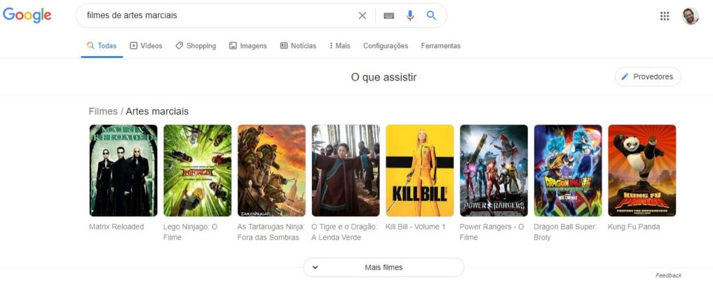 google sugestão