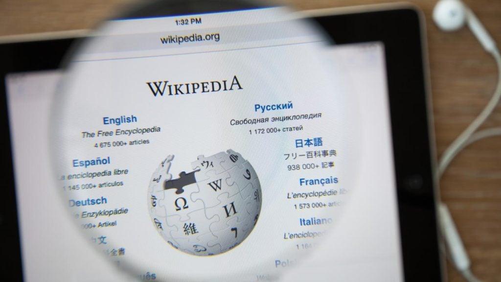 Página da wikipedia para edição