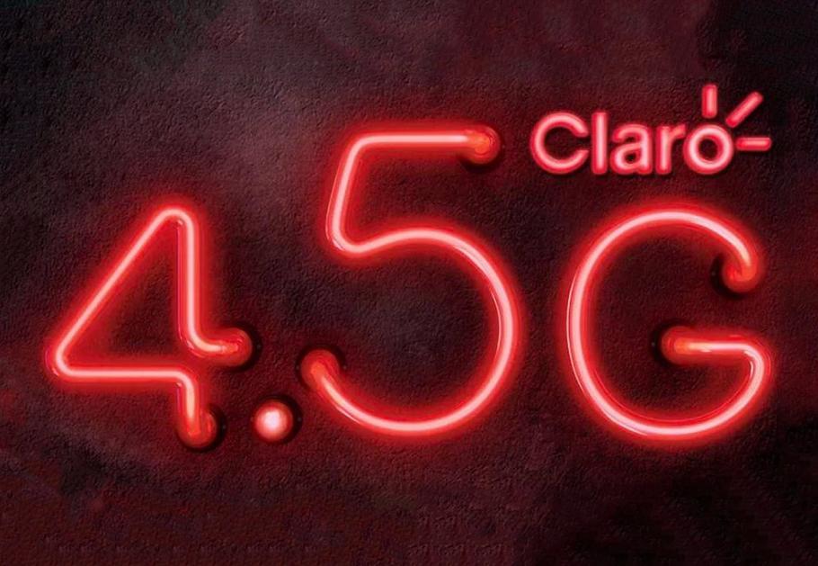 Ilustração do 4.5G da Claro