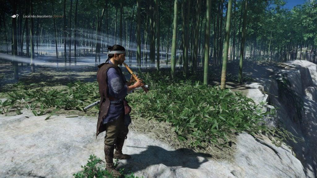 Jin toca uma flauta para manipular o clima.