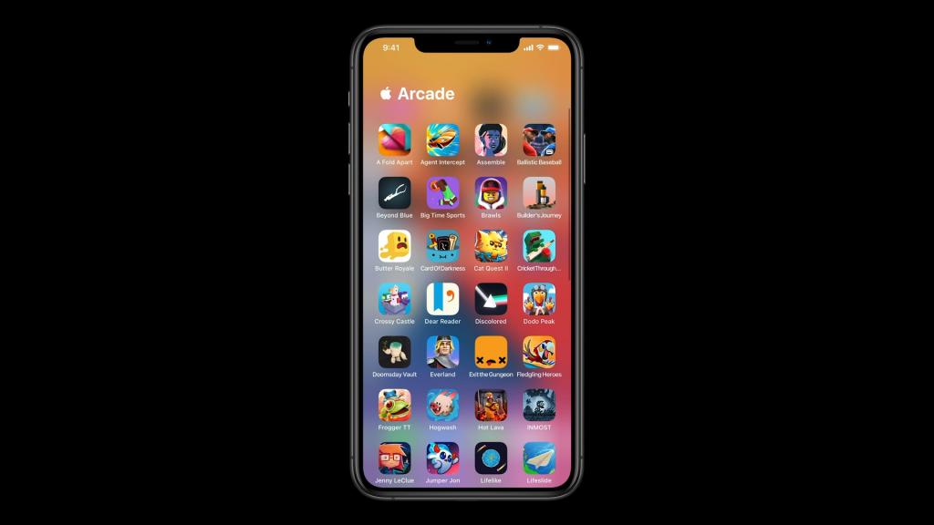 Imagem exibe a categoria Apple Arcade expandida, mostrando os ícones de todos os games do serviço instalados no aparelho.