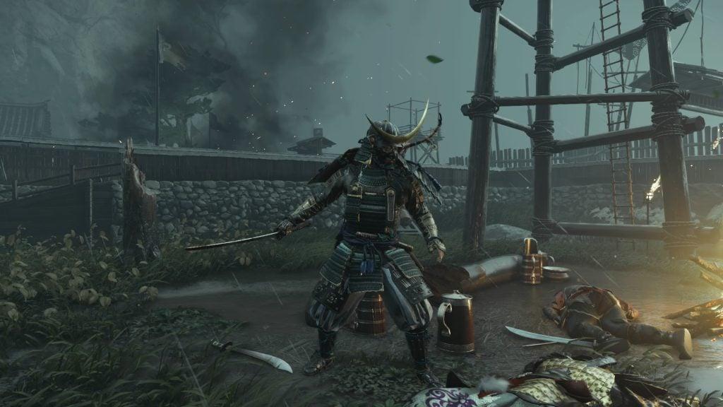Jin em uma das posturas de combate.