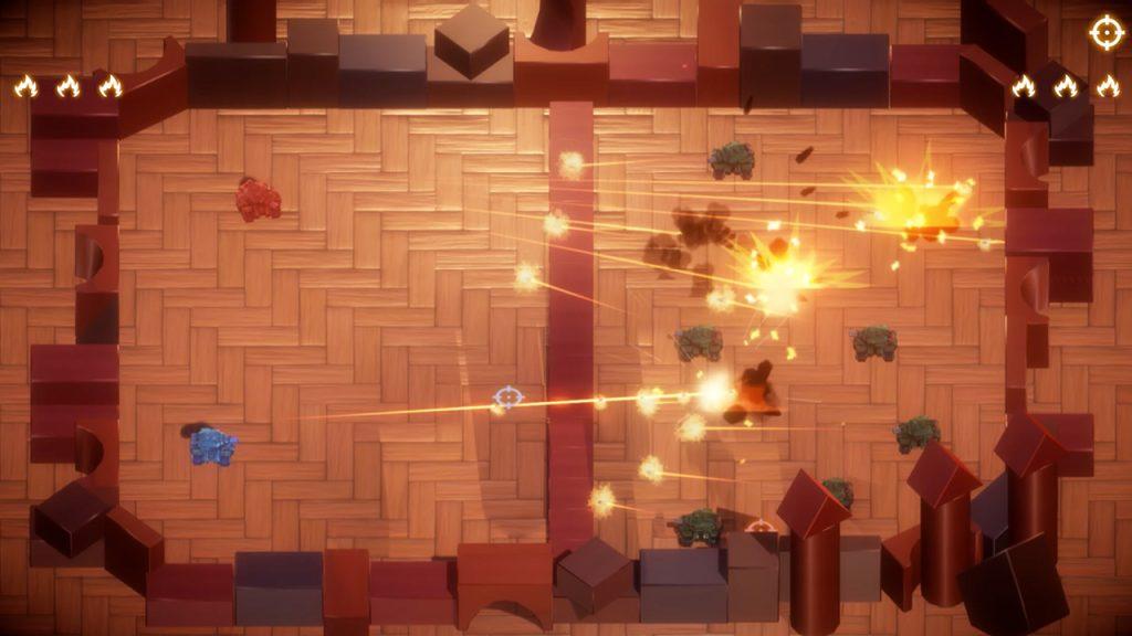 Combate em tanky tanks, um dos jogos indies de julho