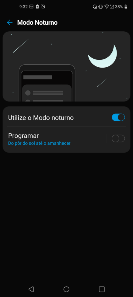 série k tutorial dark mode modo noturno