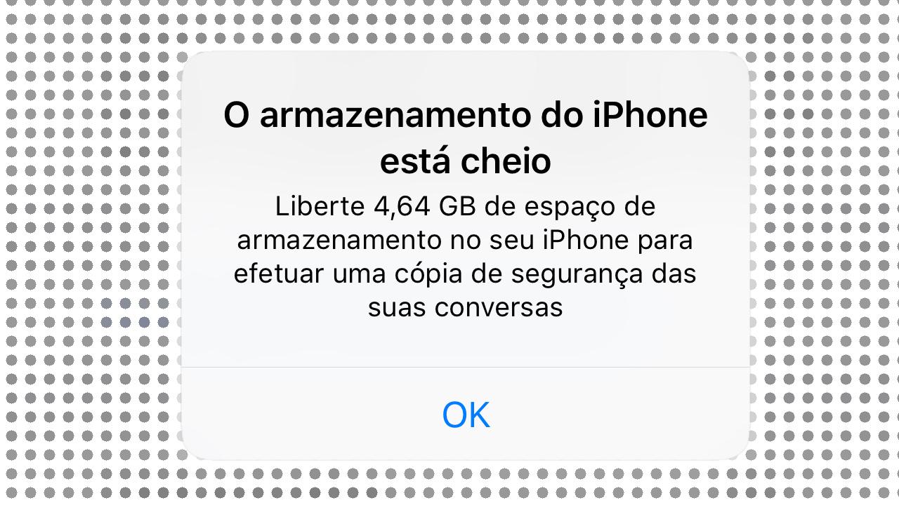 Armazenamento iphone