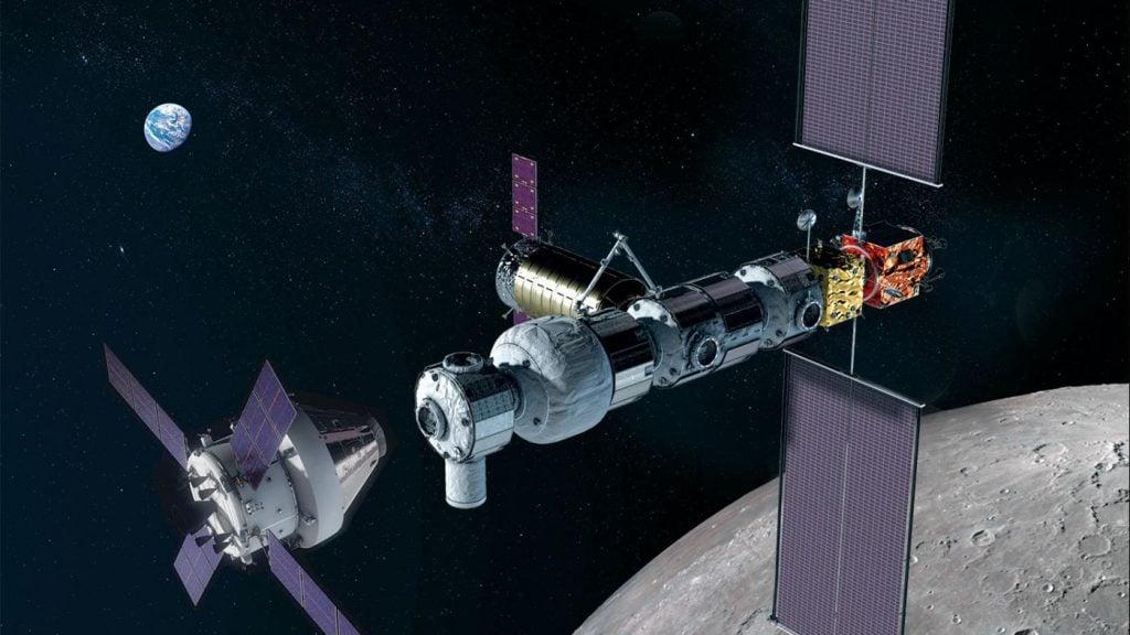 Imagens da estação lunar Gateway que vai servir de ponto de parada entre Terra e Lua