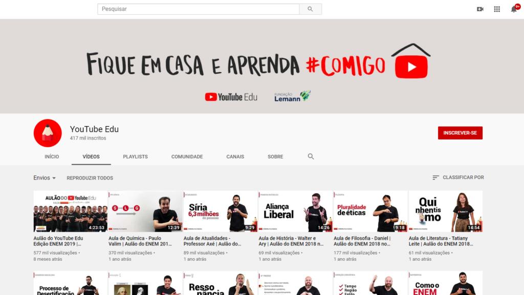 Enem no YouTube Edu
