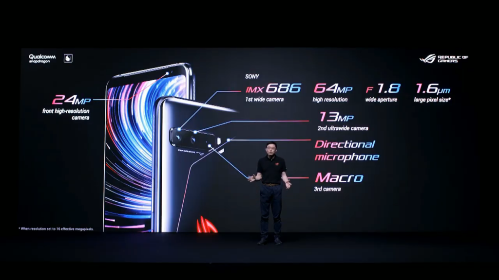 Câmeras do ROG Phone 3