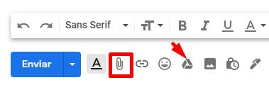 Você pode anexar um arquivo no Gmail através do Google Drive.