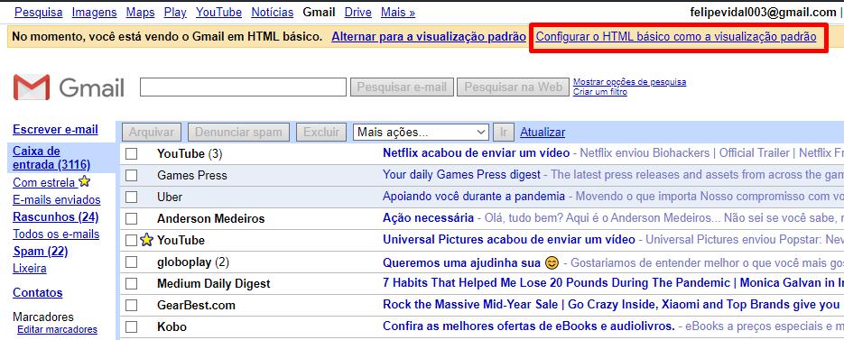Você pode usar esse formato como padrão do Gmail.