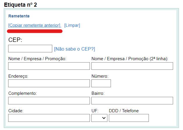 Como fazer e imprimir etiquetas dos Correios pela internet