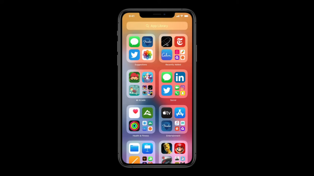 Biblioteca de Apps do iOS 14