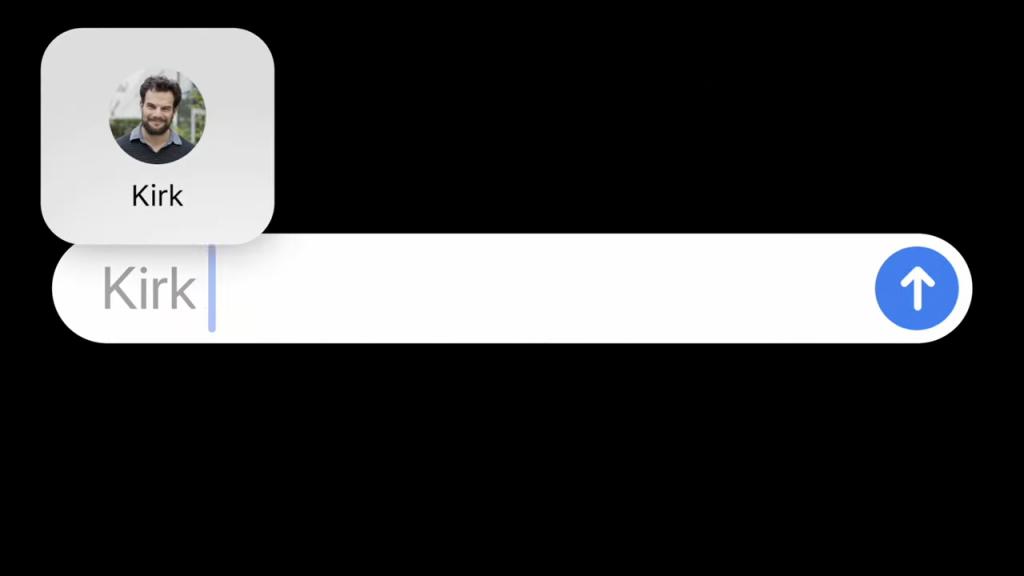 Menções em mensagens no iOS 14