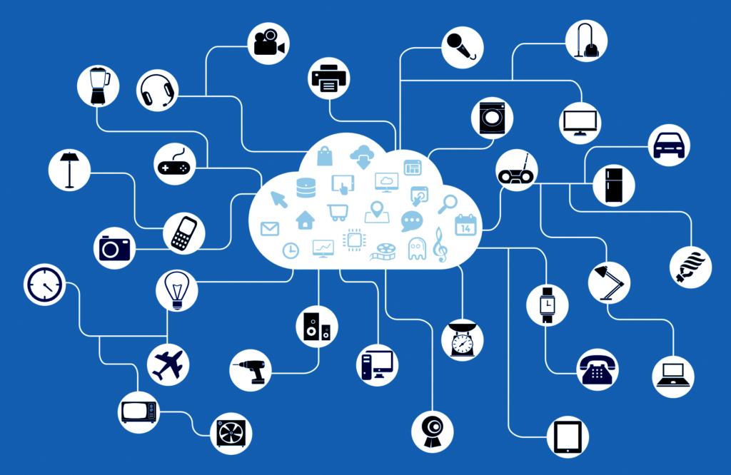 Internet das Coisas em uma ilustração de sua conectividade