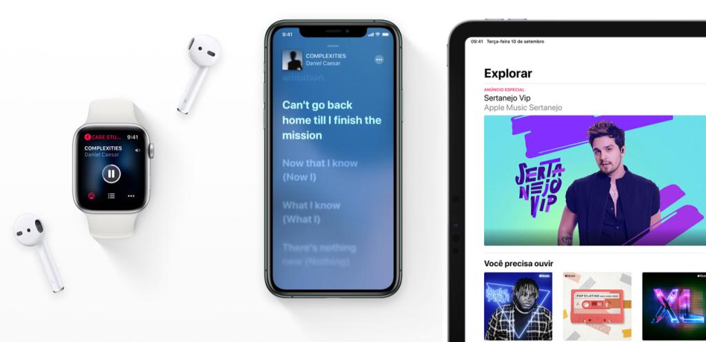 Apple music no iphone