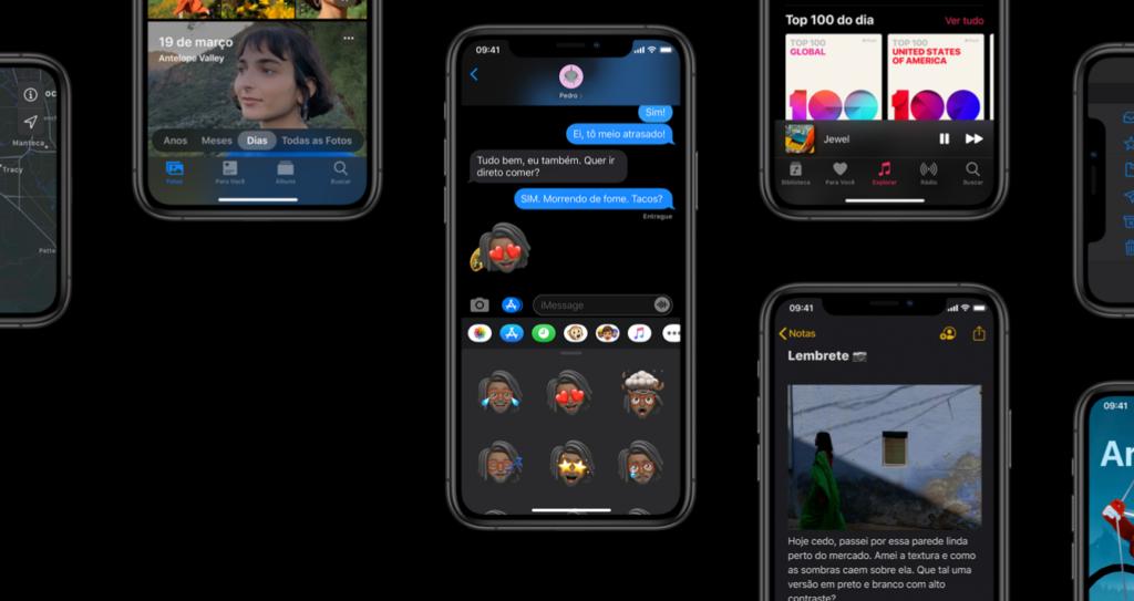 Modo Escuro do iOS 13