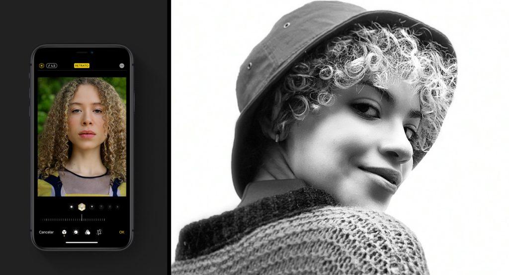 Modo retrato do iphone