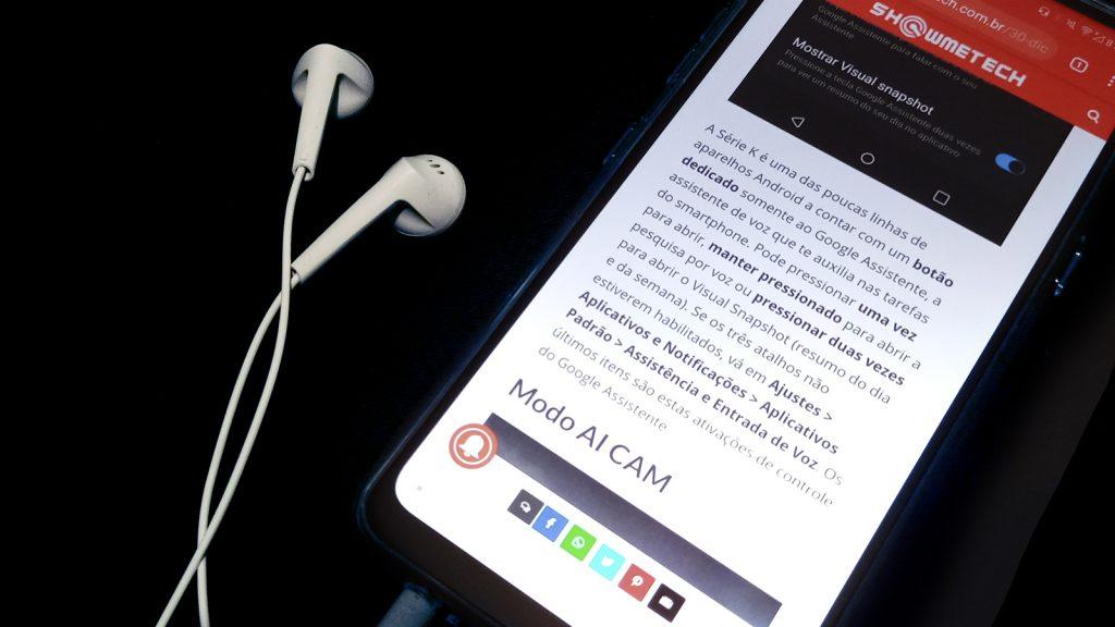 LG K61 fones de ouvido