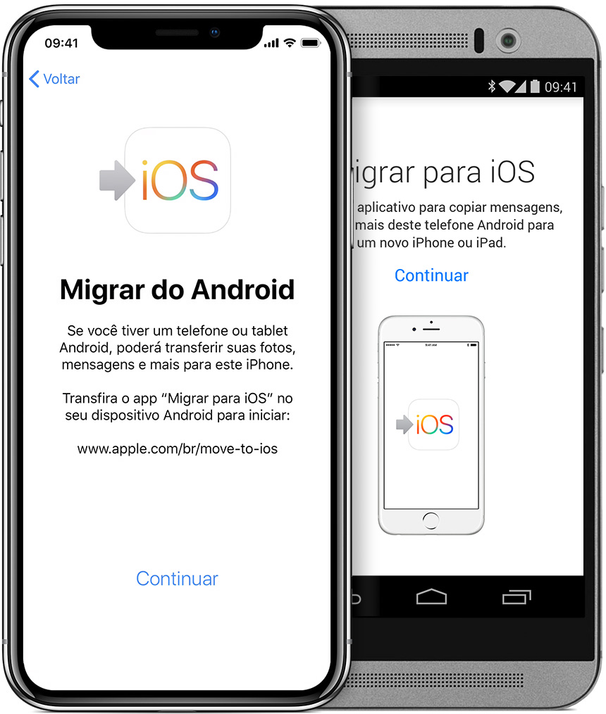 Aplicativo move to ios para mudar do android para iphone
