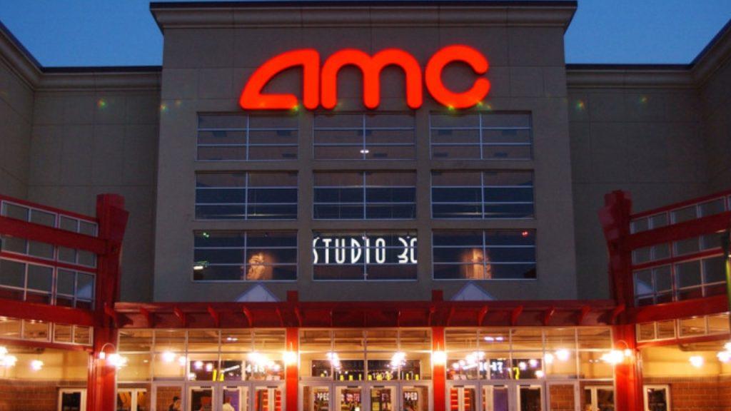Fachada de um cinema da amc