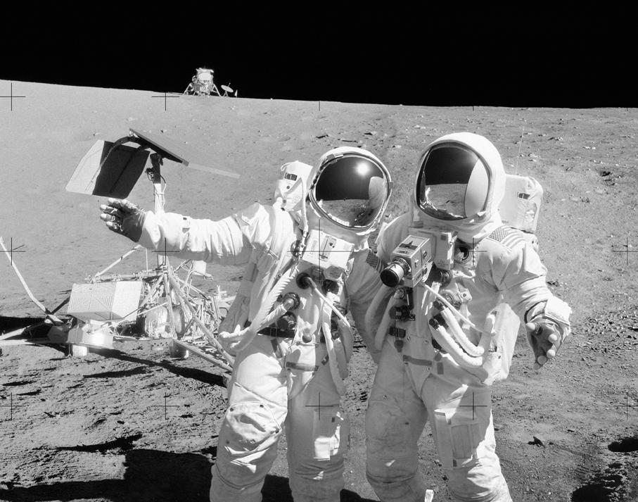 Imagens da missão que recuperou o Surveyor 3