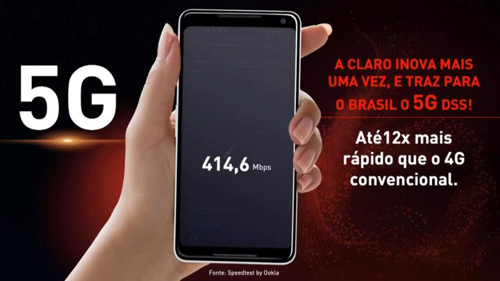 O 5g da claro vem equipado com altas frequências para maximizar a experiência do usuário.