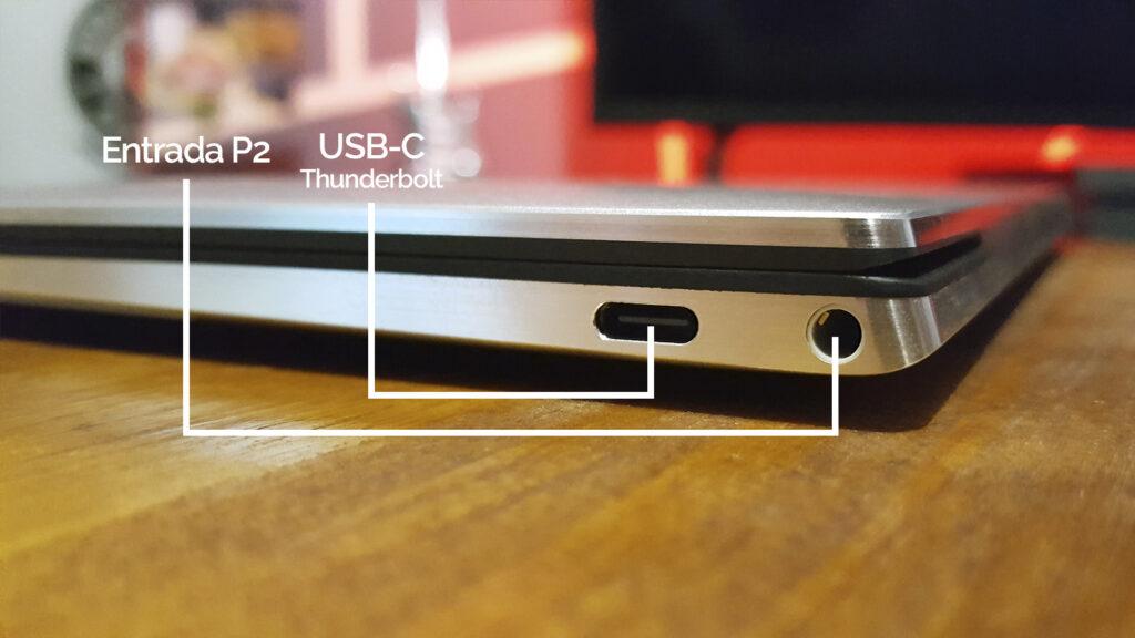 Xps 13 dell usb-c e entrada p2