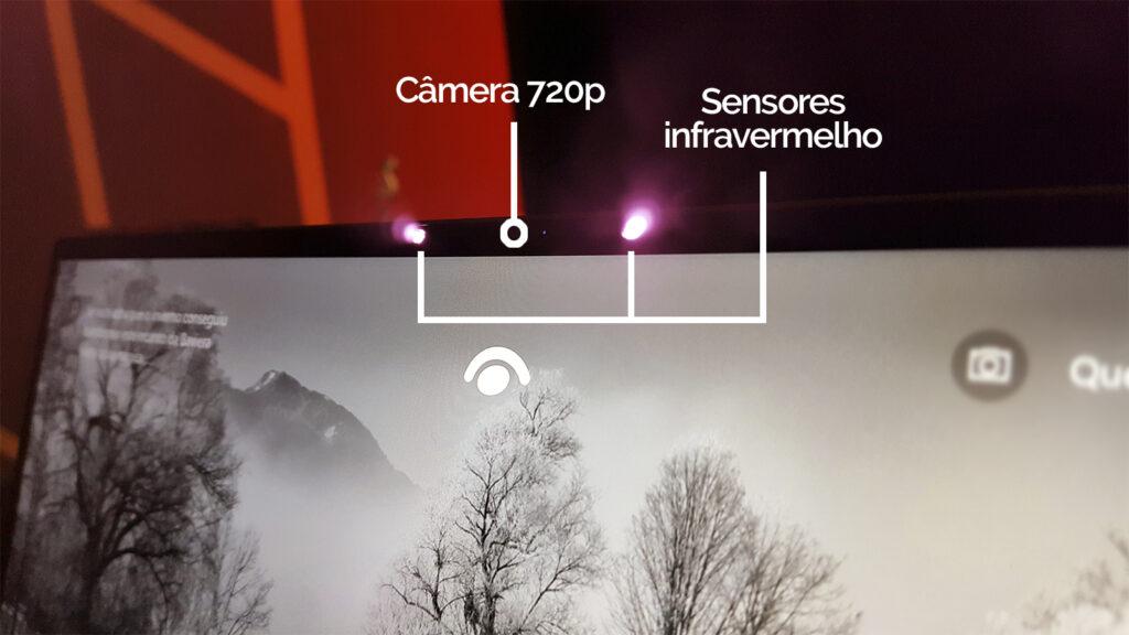 Xps 13 dell câmera e sensores infravermelho