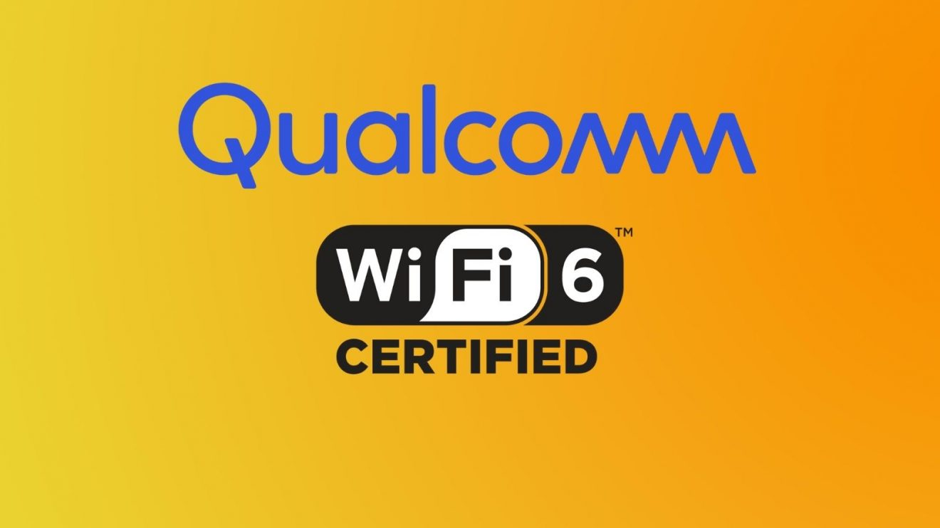 Logo da Qualcomm e do Wi-Fi 6