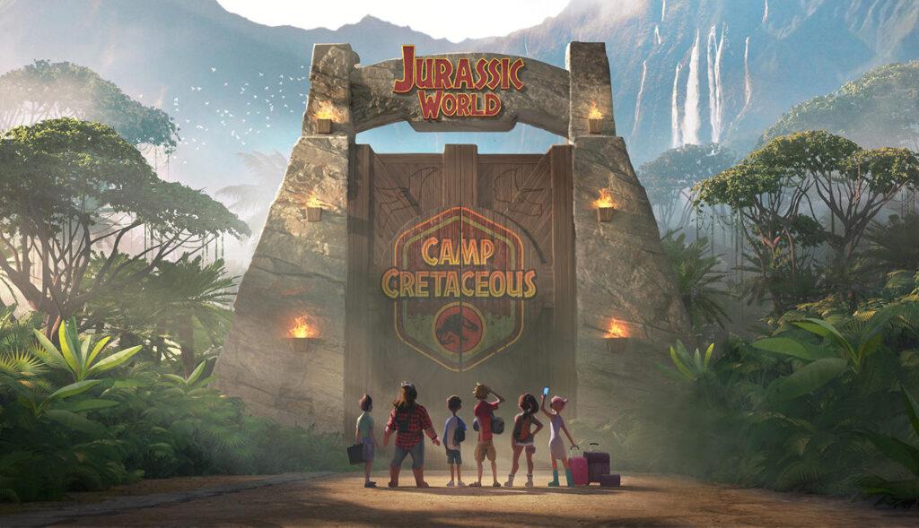 Imagem da animação 'jurassic world: acampamento jurássico'