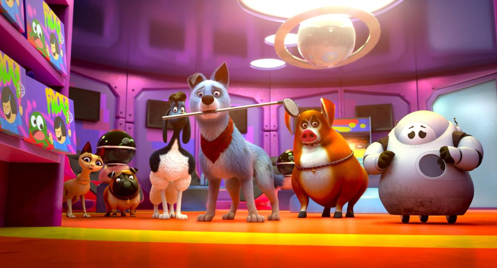 Cena da animação 'pets unidos'