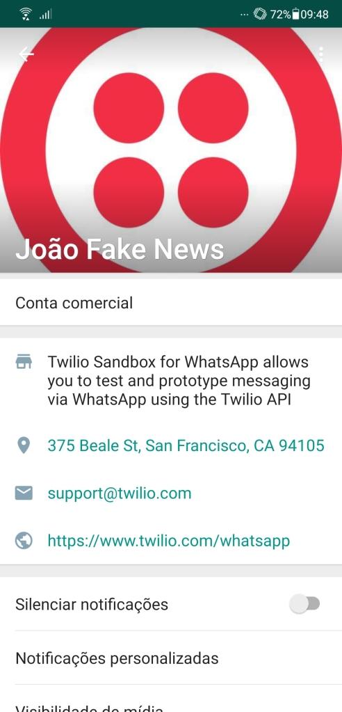 João fake news: chatbot criado pela unb se vale da tecnologia, número virtual e endereço do twilio, em são francisco