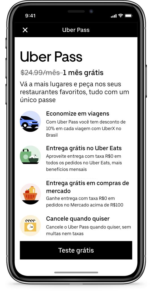 A Uber revelou um novo plano de assinatura, o Uber Pass.