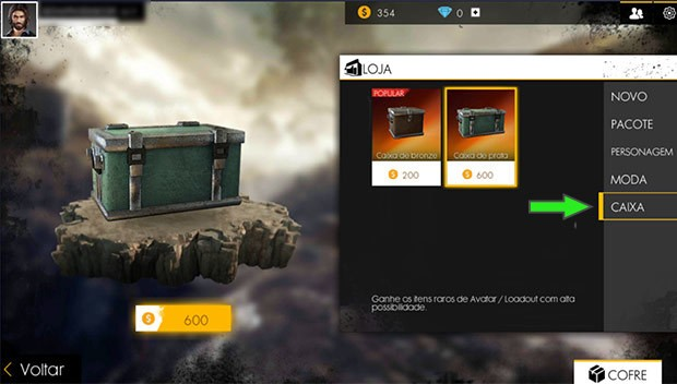 Um exemplo de loot crate em free fire, da garena (imagem: reprodução/liga dos games)