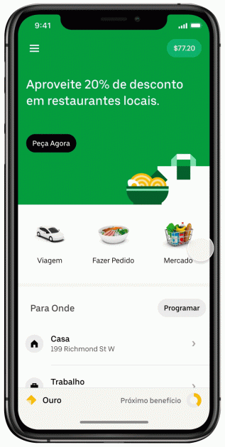 A Cornershop é outra funcionalidade integrada a Uber.