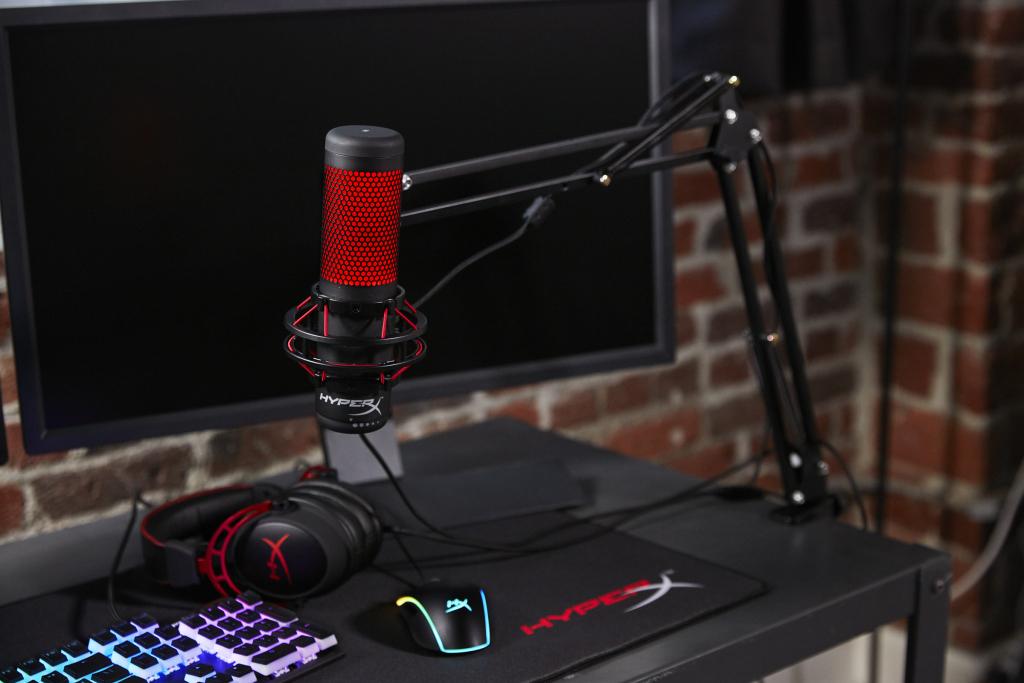 Microfone condensador HyperX Quadcast.