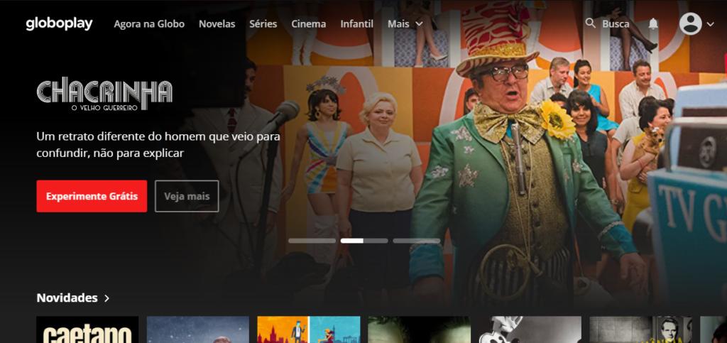 O globoplay é o serviço de streaming da globo, focado em muitas produções brasileiras.