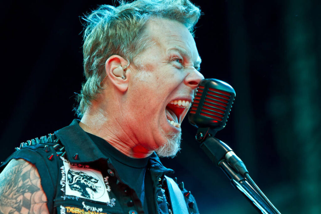 Microfone dinâmico usado pelo vocalista do Metallica.