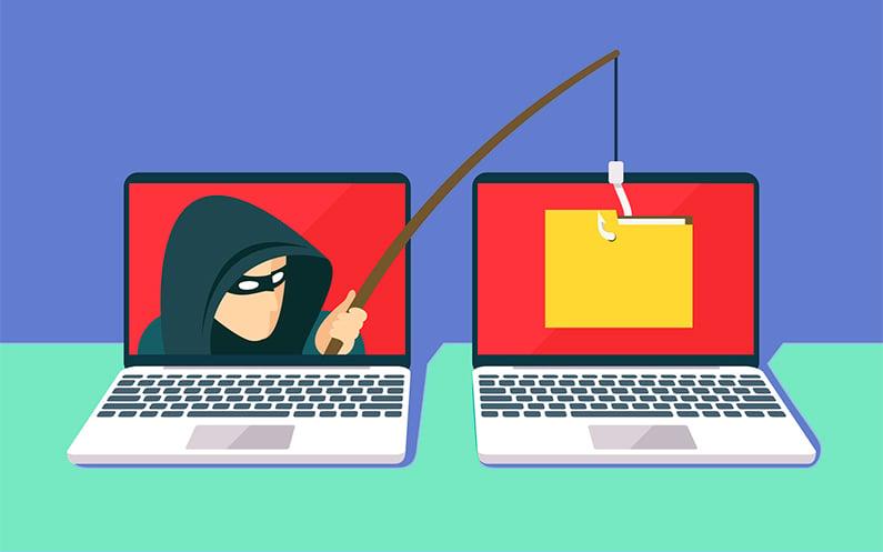 """Existe também o """"phishing"""", que constitui na criação de um perfil falso para roubar, via e-mail ou links corrompidos, credenciais de login e senhas de cartão de crédito (imagem: reprodução/credilink)"""