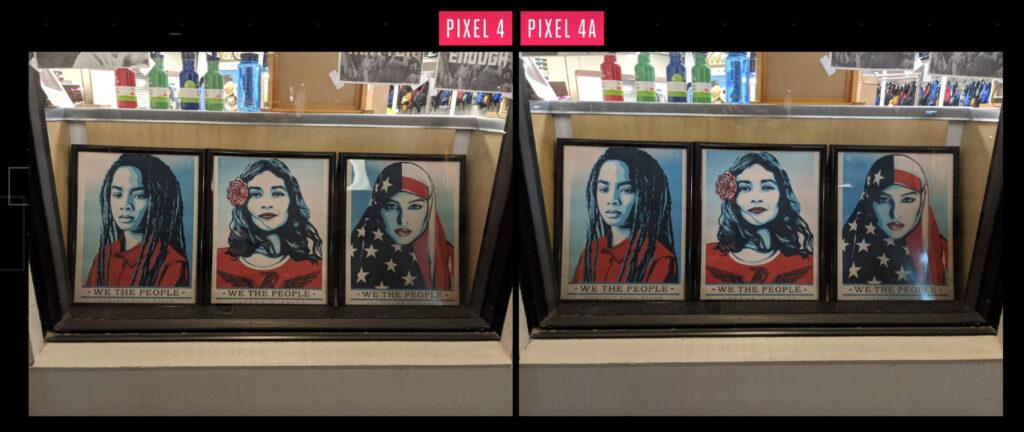 comparação de fotos entre o pixel 4 e o pixel 4a