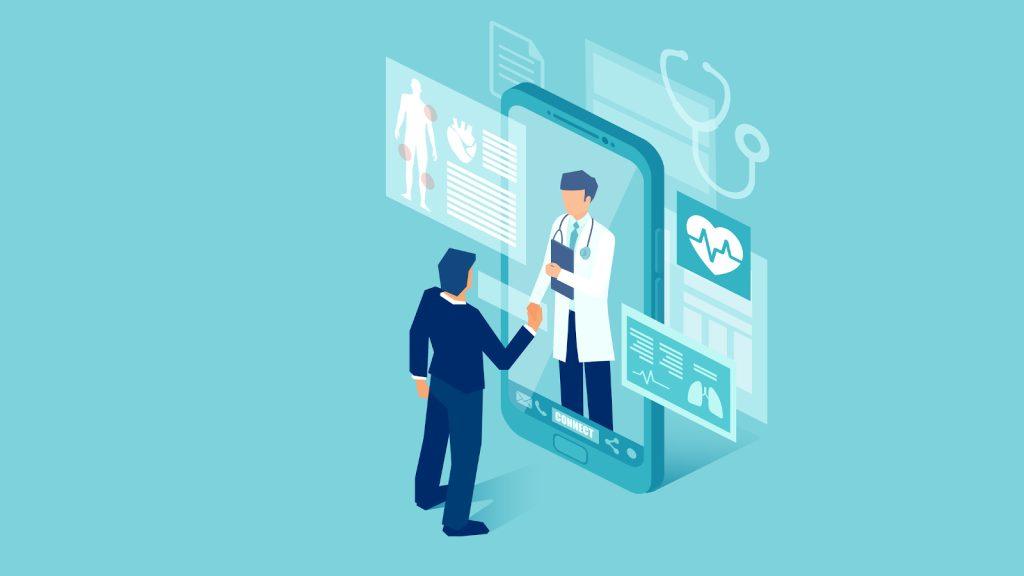 Ilustração de telemedicina