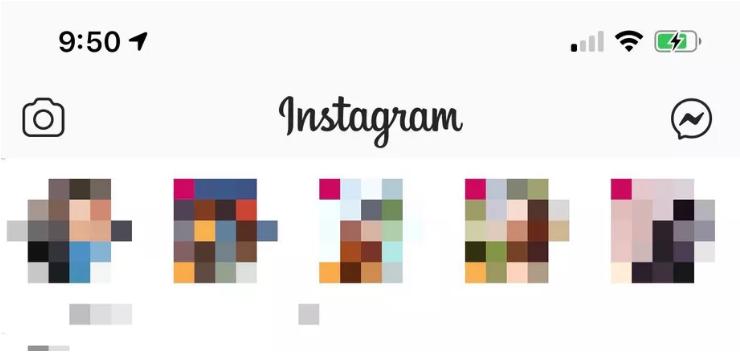 """Com o update, o ícone das """"dms"""" do instagram é substituído pela logomarca do facebook messenger (imagem: reprodução/the verge)"""