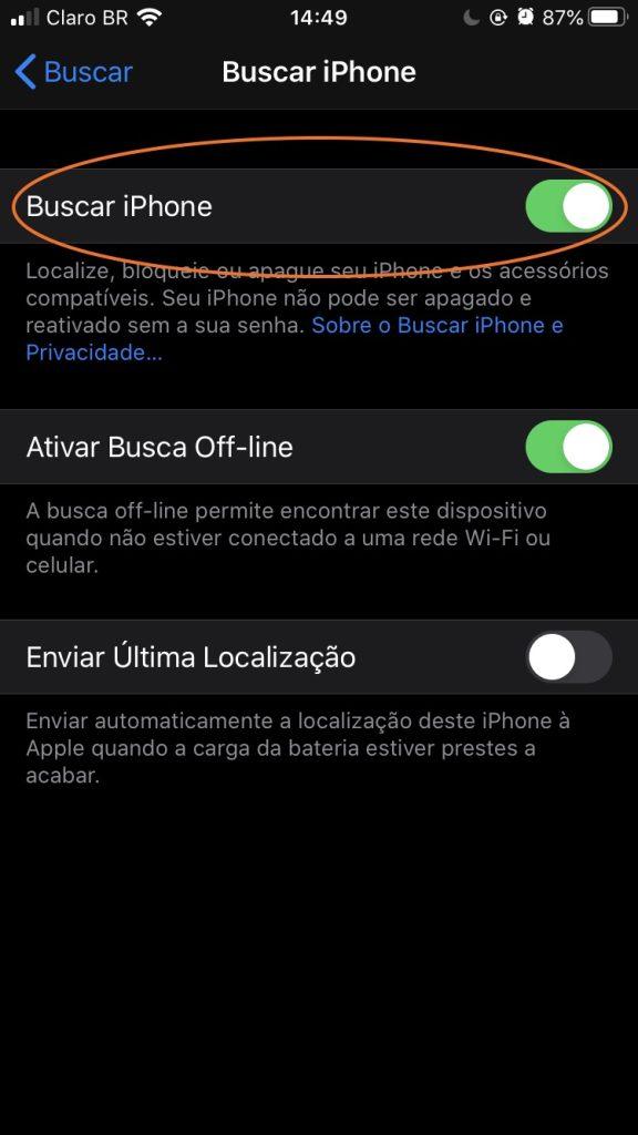 Tela do iphone