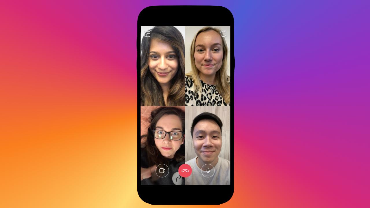 Aprenda a fazer uma chamada de vídeo em grupo pelo instagram